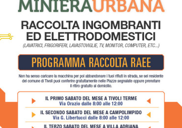 TIVOLI MINIERA URBANA Vince il Bando 5 EURO/TONNELLATA PREMIATA