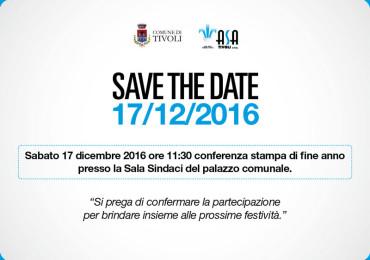 Save the date – Conferenza stampa di fine anno