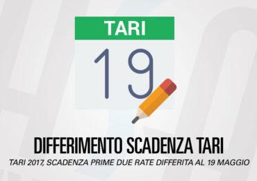 Differimento scadenza Tari 2017