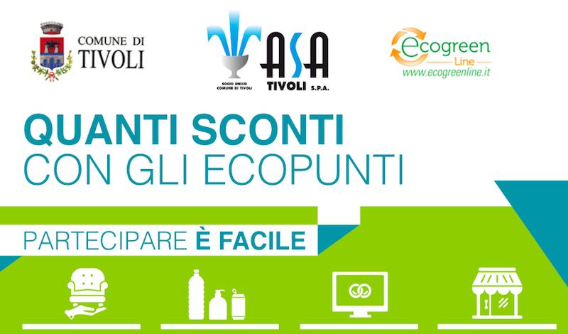 Tivoli Premia: gli Ecopunti Asa per La Raccolta Differenziata