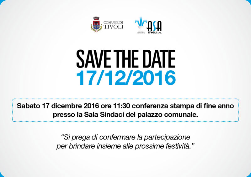 Save the date – Conferenza stampa di fine anno