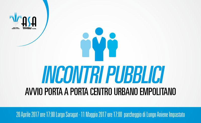 Incontri pubblici avvio porta a porta Centro Urbano Empolitano
