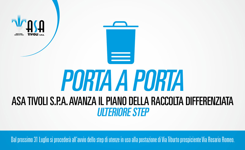 Asa Tivoli S.p.A. Avanza il piano della raccolta differenziata – Ulteriore step