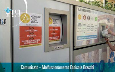 Comunicato – Malfunzionamento Ecoisola Braschi