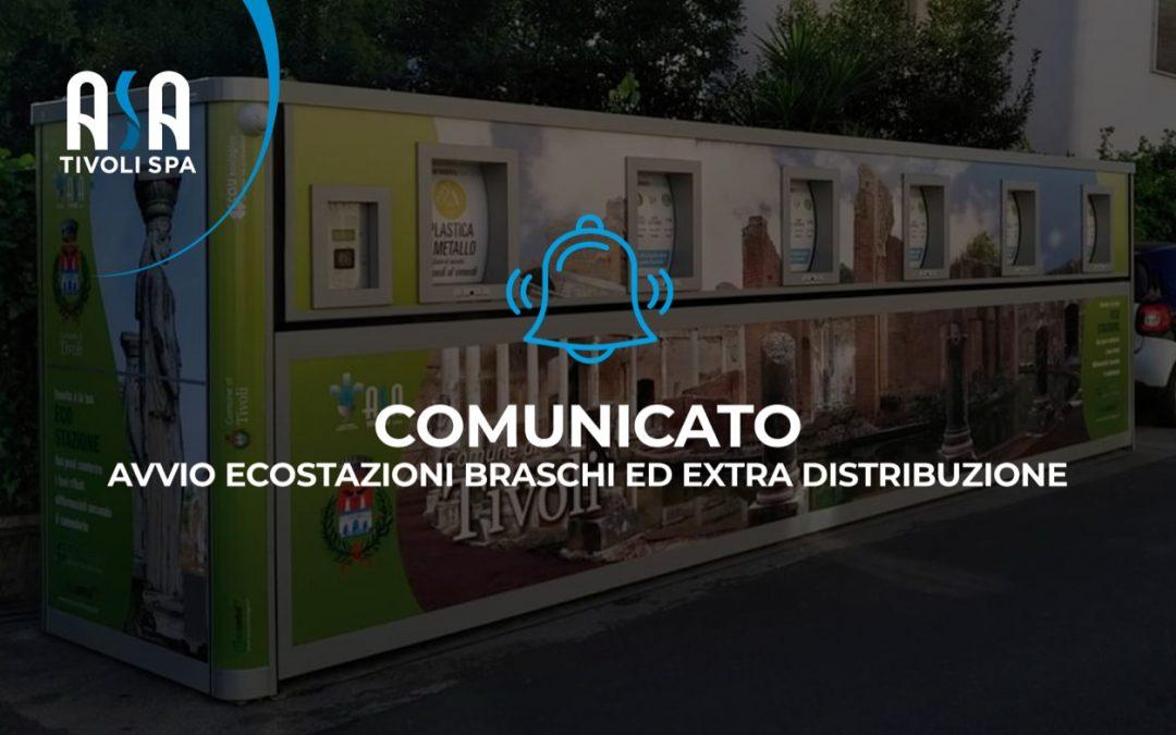 Comunicato – Avvio Ecostazioni Braschi ed extra distribuzione