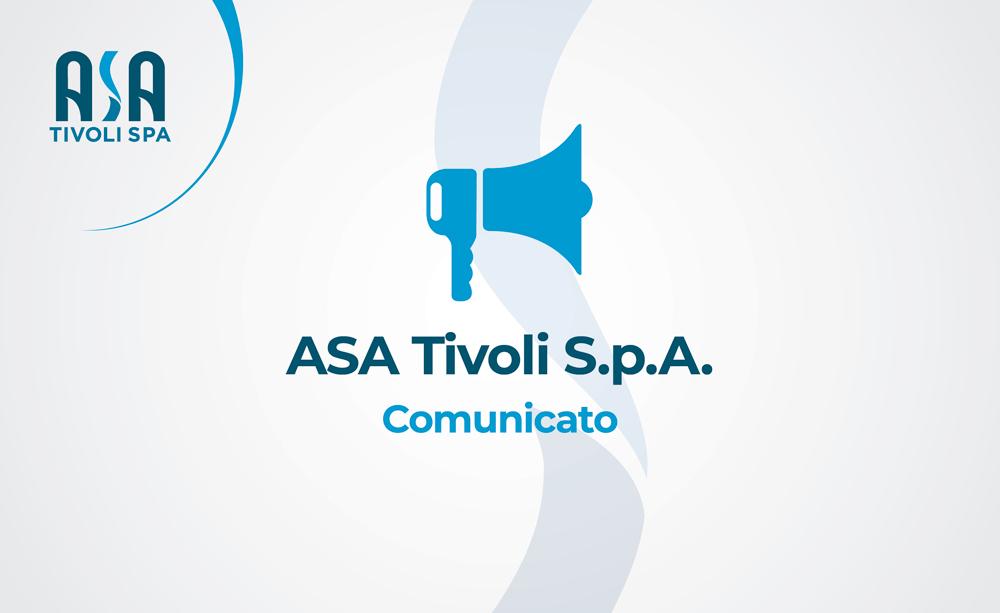 ASA Tivoli S.p.A. – Comunicato