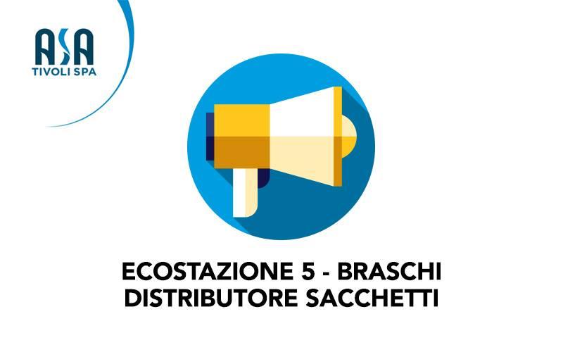 Ecostazione 5 Braschi. Avvio distributore sacchi