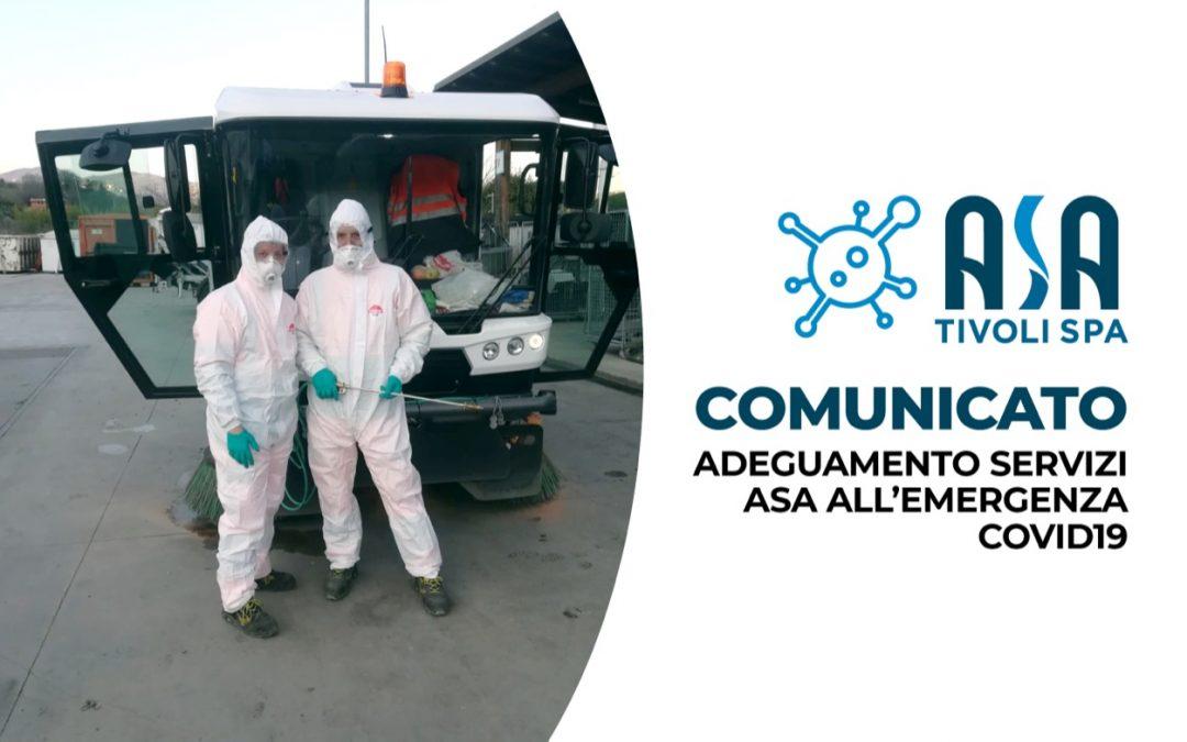 Comunicato – Adeguamento servizi ASA all'emergenza Covid19