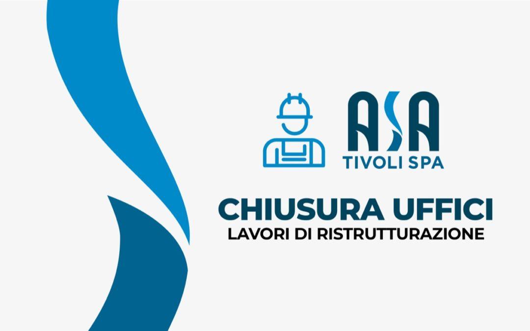 ASA – Chiusura uffici Via del Trevio, 9