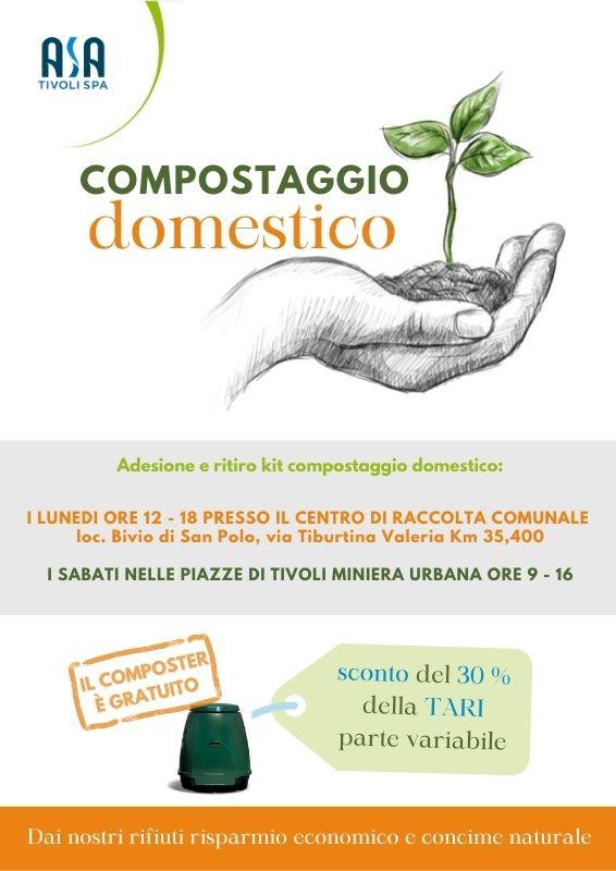 informazioni sull'iniziativa e modalità di adesione e ritiro kit compostaggio domestico
