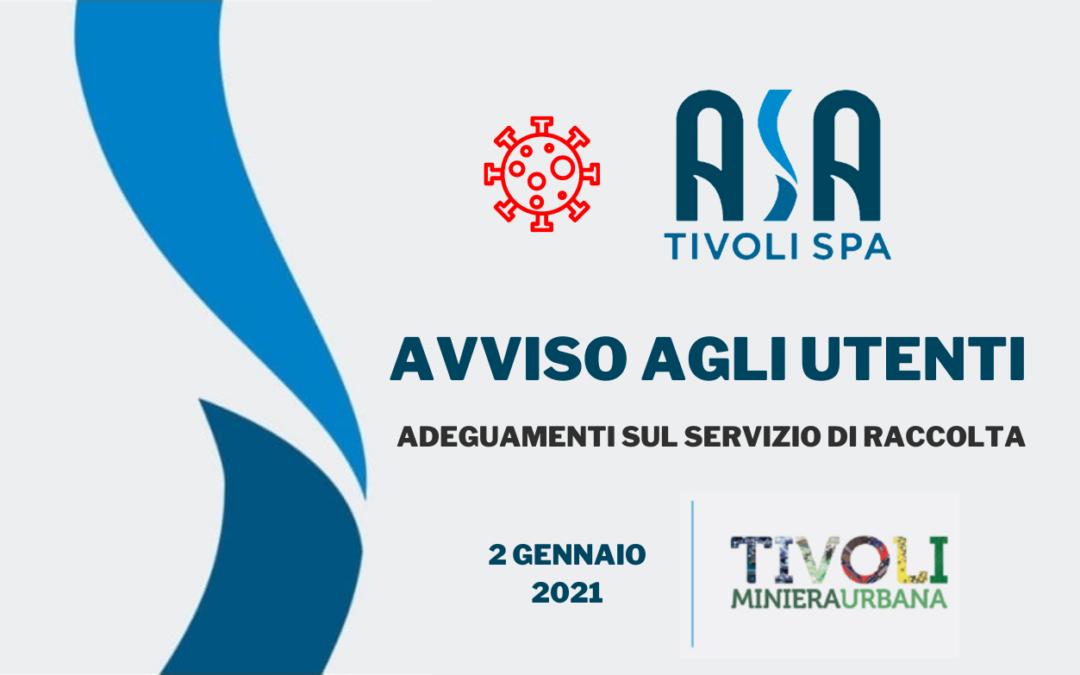 Tivoli Miniera Urbana del 2 Gennaio 2021 a Tivoli Terme: previsto il conferimento di RAEE ed ingombranti