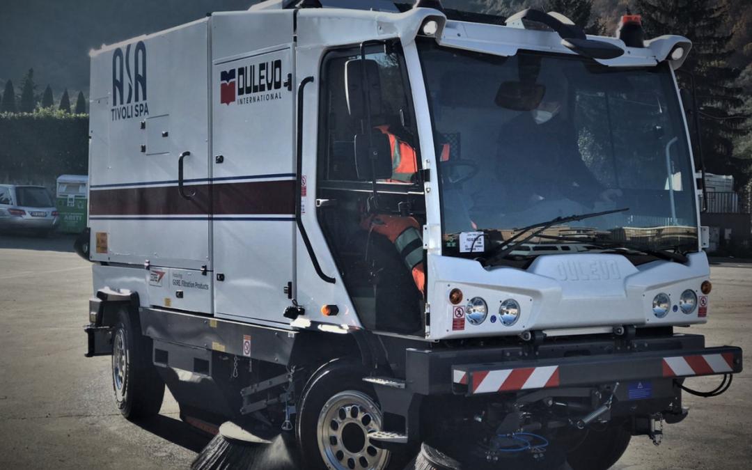 Nuova spazzatrice meccanico-aspirante per le strade di Tivoli