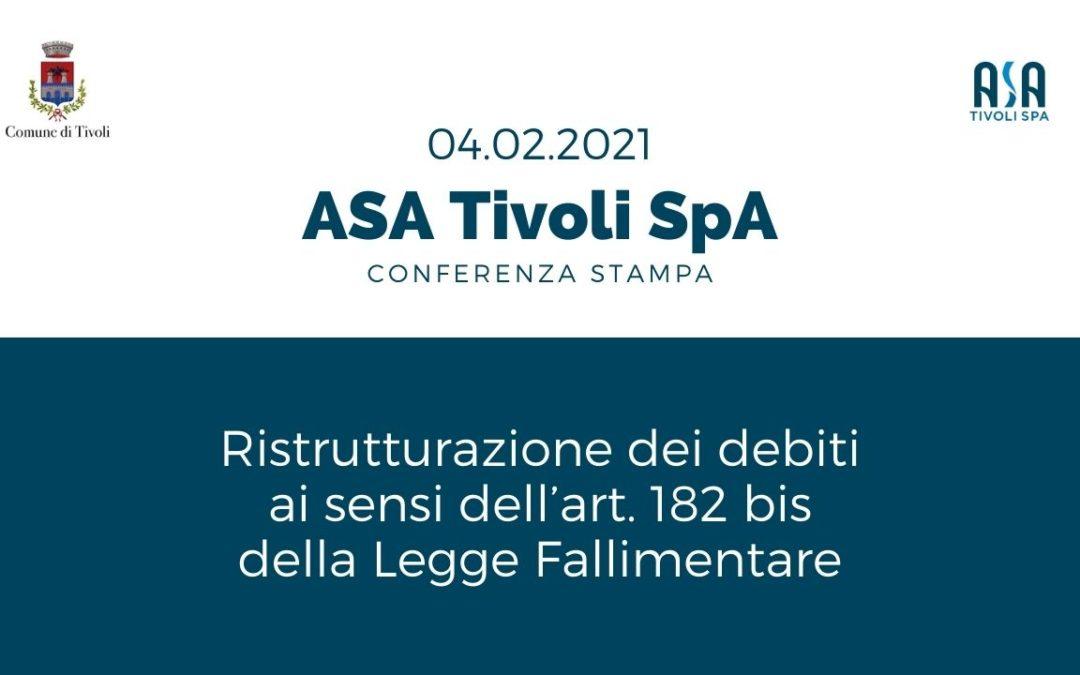 Conferenza Stampa: bilancio delle attività e ristrutturazione del debito ASA